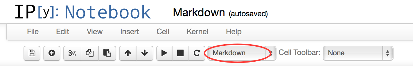 Markdownタイプの選択